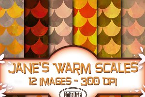 Orange Scales Seamless Pattern