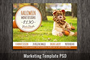 Halloween Mini Session Template PSD