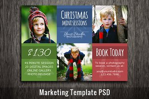 Christmas Mini Session Template PSD