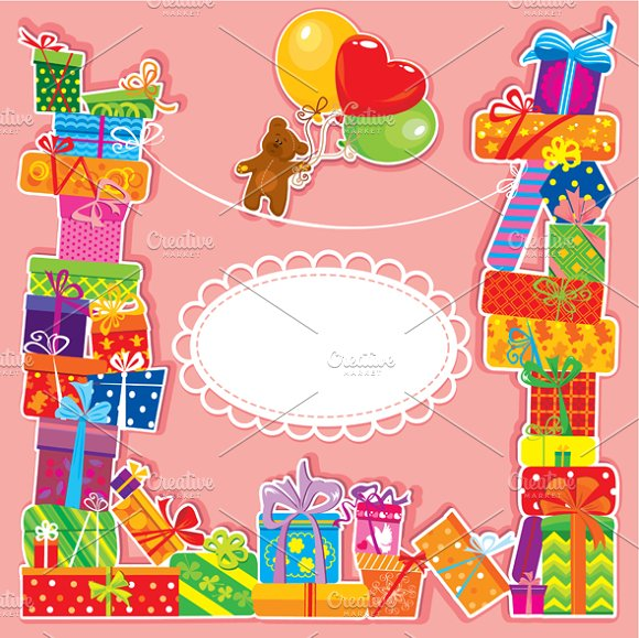 Baby Birthday Cards And Patterns Card Templates Creative Market