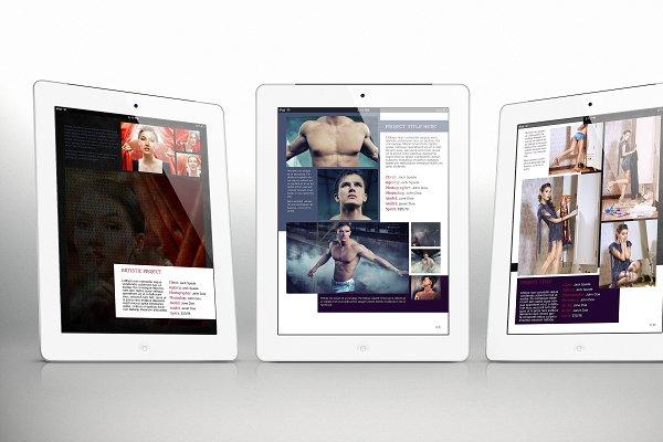 Tablet Portfolio Bundle for Indesign
