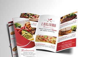 Restaurant Menu Tri-fold Brochure