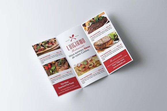 restaurant menu tri fold brochure brochure templates creative market
