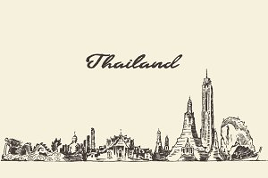 Skyline of Thailand