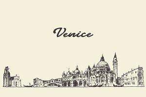 Venice skyline, Italy