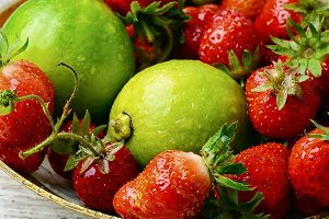 Strawberry and lime