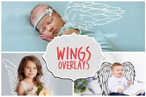 42 Angel Wings Photoshop Overlays