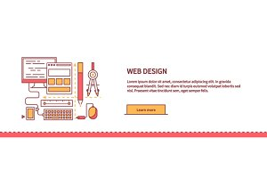 Design Web Work Space Flat