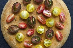 Variety of cherry tomatoes