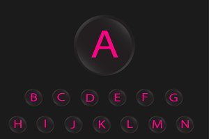 neon buttons font pink