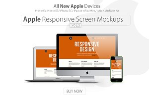 Apple Responsive Screen Mockups V.2