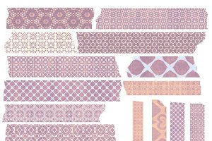 Lavender & Pink Patterned Washi Tape