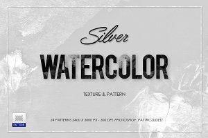 White Silver Watercolor Texture