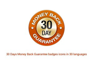 30 Days Money Back Guarantee badges.