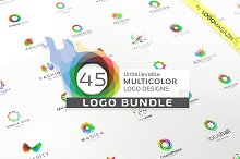 45 Multicolor Logos Bundle