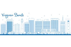 Outline Virginia Beach Skyline