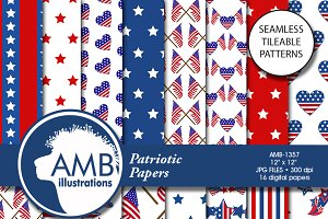 Patriotic Digital Papers, 1357