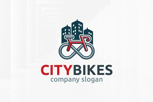City Bikes Logo Template