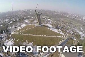 Aerial view of Mamaev Kurgan