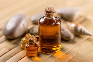Bottles with aroma oil