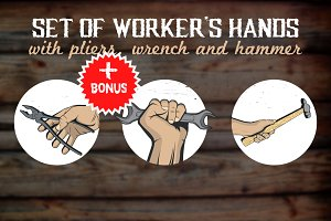 Hands with tools/instruments