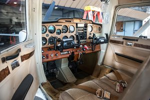 private plane pilot cabin