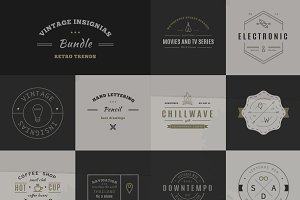 34 Trendy Retro Vintage Insignias