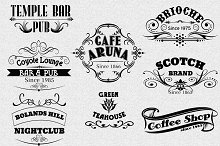 Vintage Logotype Labels