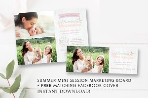 Summer Mini Session Marketing Board