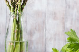 Asparagus in a bottle
