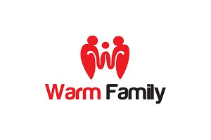 Warm Family logo Template