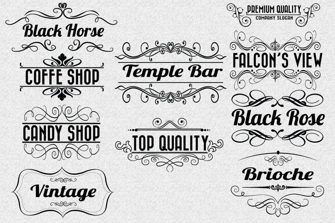 Vintage-Retro Labels Vol. 2 ~ Logo Templates ~ Creative Market