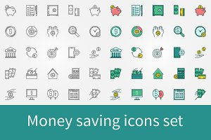 Money saving icons