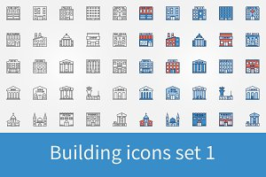 Building icons set 1