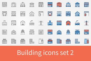 Building icons set 2