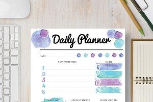 Daily Planner: Half Letter & Letter