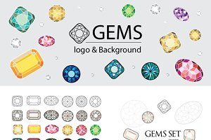 GEMS LOGO & BACKGROUND KIDS