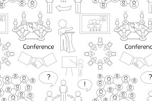 Conference icons pattern