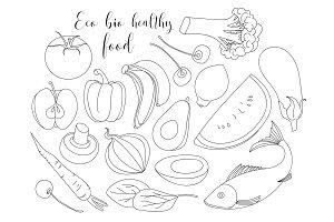 Eco bio healthy food