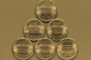 Dollar coin - 1 cent - vintage