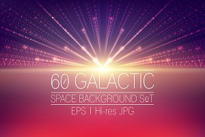 60 Abstract space backgrounds pack