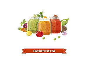 Vegetable food jars