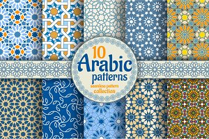 10 Arabic seamless patterns