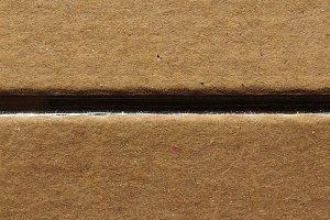 Brown corrugated cardboard background