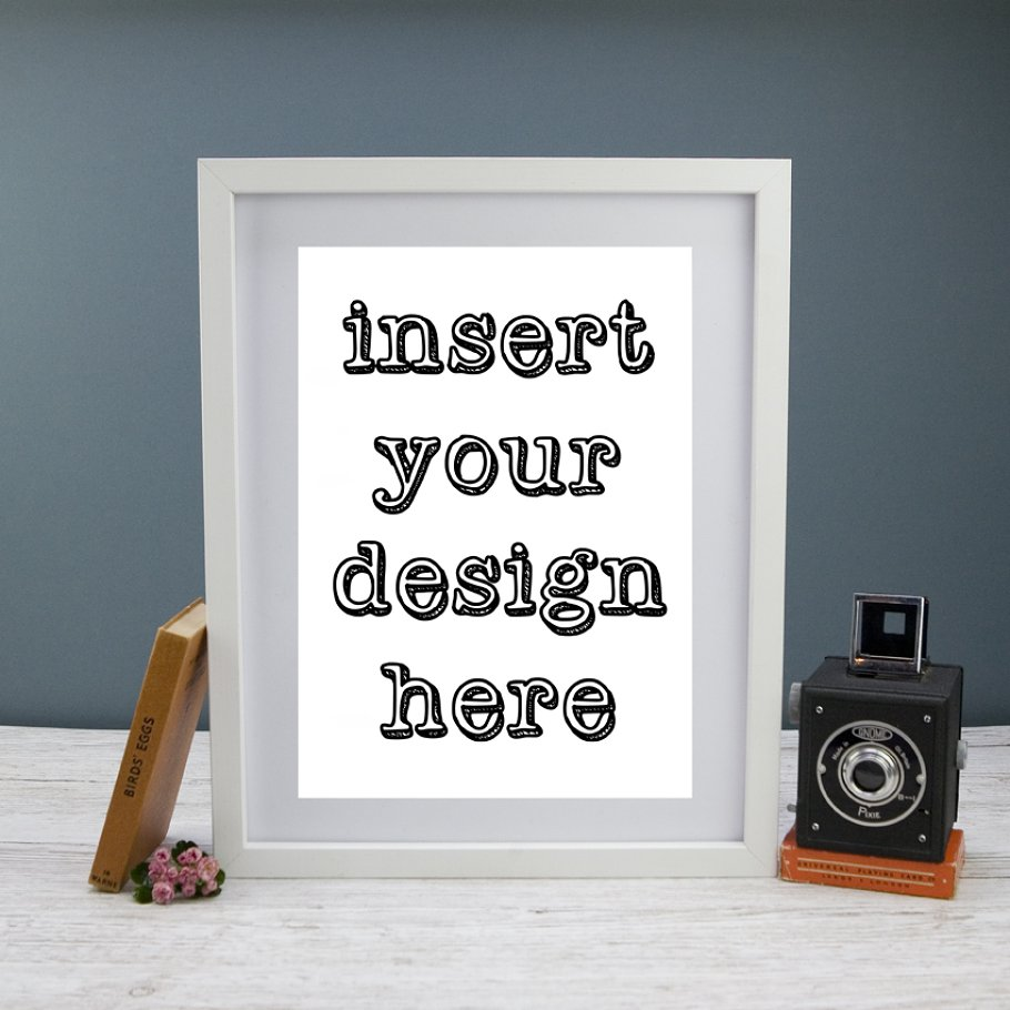 ac0196cbdc9b Frame Mockup Portrait Styled Stock ~ Photos ~ Creative Market