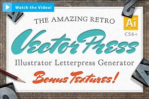 Vector LetterPress Effect Kit