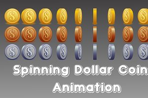 Spinning Dollar Coin Animation