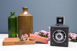 Vintage Camera Still Life Hero Photo