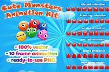 Cute Monsters Animation Kit