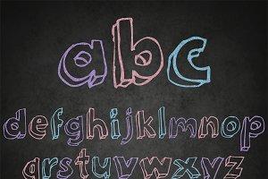 Chalkboard alphabet clipart